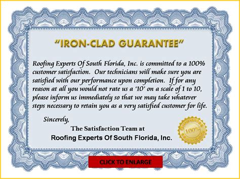 Guarantee Letter Format For Waterproofing Work Roof Repair Experts Iron Clad Guarantee Your Leak Experts
