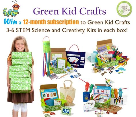 green kid crafts green kid crafts 12 month subscription giveaway green