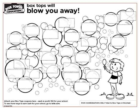 box tops for education collection sheets box tops
