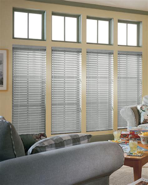 light grey wooden blinds