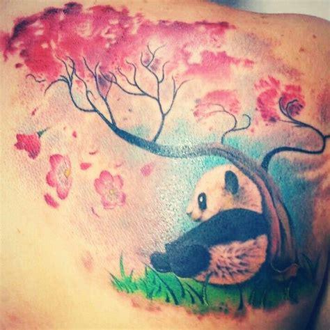 watercolor tattoos panda my tree with baby panda tatto my tattoos