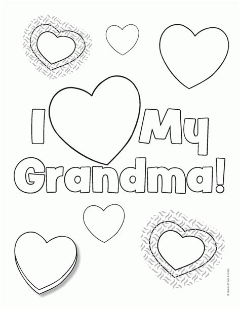 printable birthday cards to color for grandma happy birthday grandma coloring page 442967