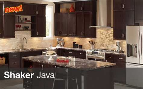 Solid Wood Kitchen Cabinets Home Depot by The Java Shaker Kitchen Cabinets Are A Black Solid Wood
