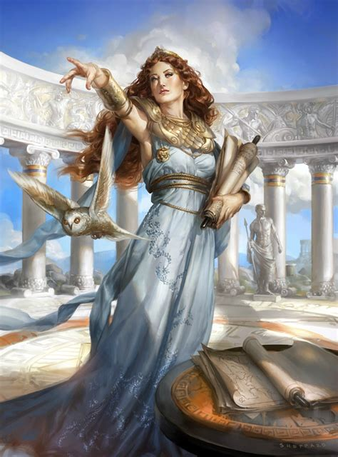 goddess of wisdom athena cynthia sheppard illustration