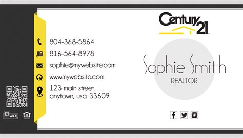 Century 21 Business Card Template by Century 21 Business Cards Century 21 Business Card Template