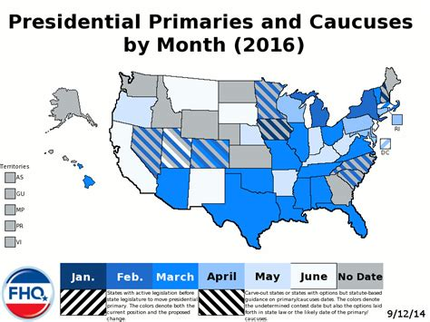 2016 Presidential Election Calendar Frontloading Hq The 2016 Presidential Primary Calendar