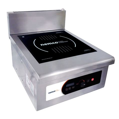 3 phase power induction cooktop nemco 9140 1 heavy duty countertop induction stock pot range 208 240v 3 phase 10 000w