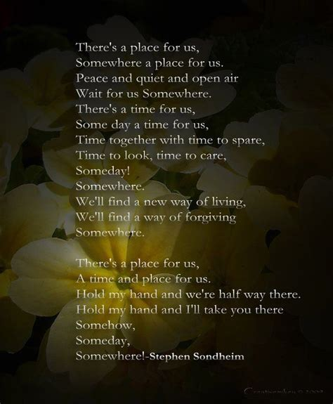 s day verses lyrics there s a place for us by creativemikey on deviantart