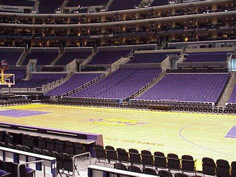 staples center section 119 arena and tickets los angeles lakers