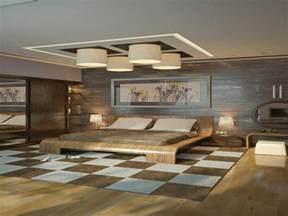 Charmant Meubles De Salon Pas Cher #3: 1-jolie-chambre-a-coucher-plafonnier-design-faux-plafond-tendu-sol-en-parquet-plafonnier-led-pas-cher.jpeg