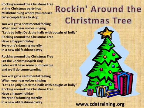 catchy collections of christmas tree songs lyrics