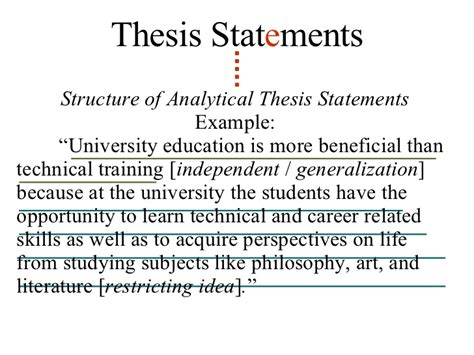 the definition of a thesis statement exles of thesis statements alisen berde