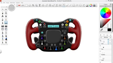sketchbook pro student the course sketching an f1 wheel with
