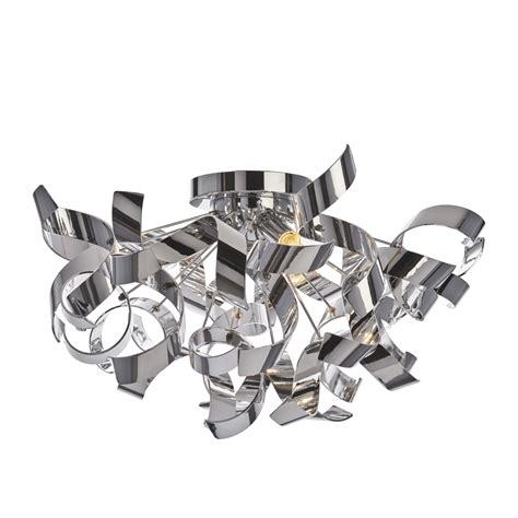 chrome twist 3 light flush fitting