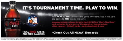text to win sweepstakes text to win contests coca cola and ncaa text to win sweepstakes