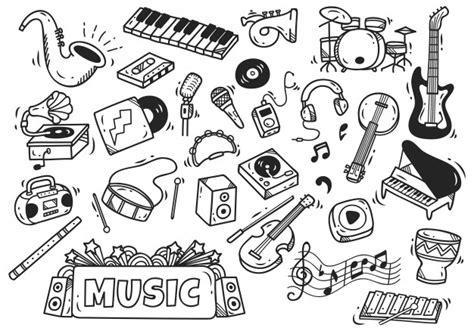 doodle baixar conjunto de instrumento de m 250 sica em estilo doodle