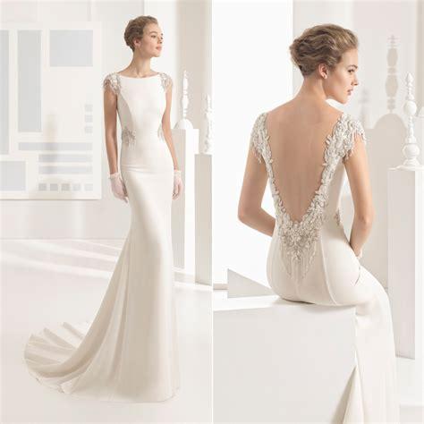 imagenes de vestidos de novia con escote en la espalda espalda joya y escotes pronunciados as 237 son los vestidos