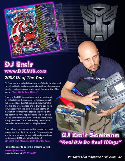 dj biography template dj emir press kit media coverage of one of the worlds