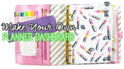 build a planner make your own planner dashboard with any image