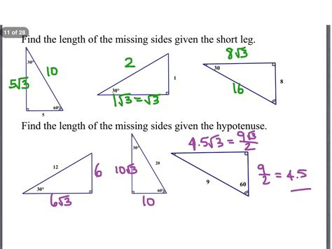 Geometry Special Right Triangles Worksheet by Geometry Special Right Triangles Worksheet Answers Worksheets