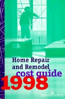 home repair remodel cost guide 1998 rent 9780070410596