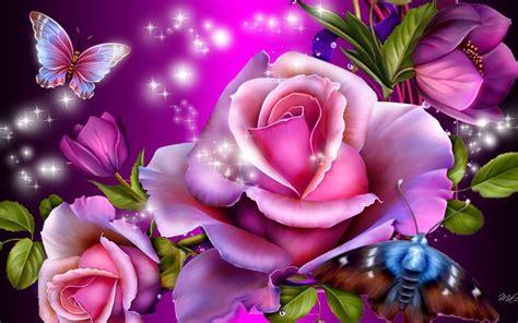themes beautiful rose purple butterfly desktop desktop wallpapers 187 drawn
