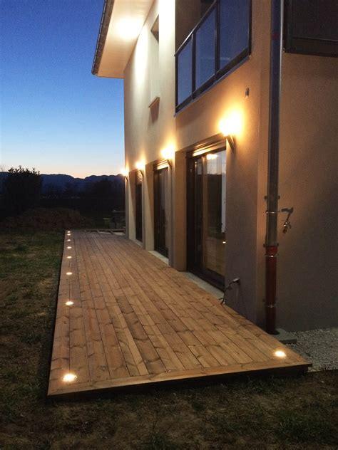 eclairage de terrasse exterieur eclairage exterieur facade maison evtod