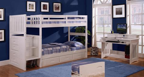 girls bunk bed sets discovery world furniture twin over twin white staircase bunk bed set with 5 drawer