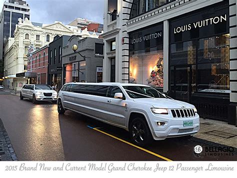 jeep grand limousine white grand jeep limousine perth bellagio