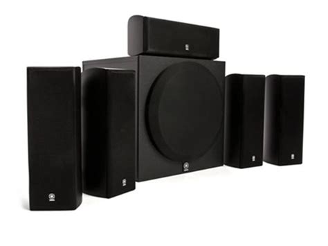 yamaha 5 1 home theater speaker system with powered subwoofer