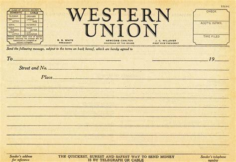 union template 1930s western union telegram blank fill in the blank