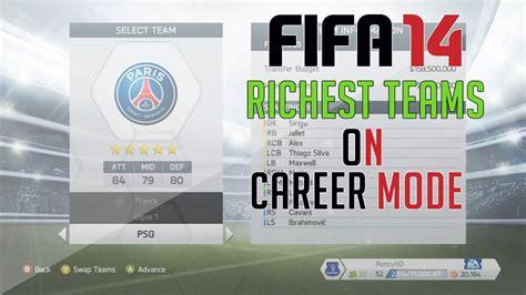 Fifa Mba Internship by Fifa 14 Richest Teams On Career Mode