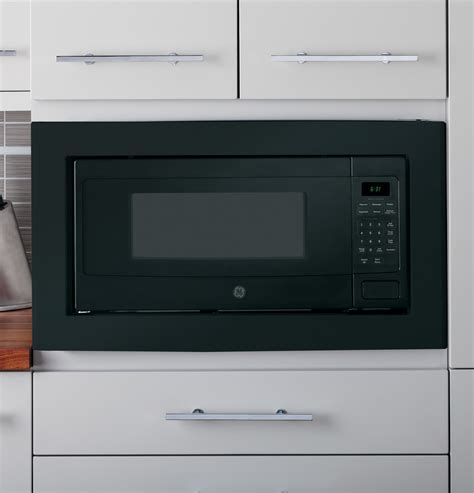 Can A Countertop Microwave Be Built In by Pem31dfbb Ge Profile 1 1 Cu Ft Microwave Oven Countertop Or Built In Black