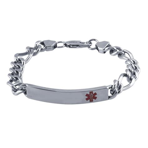 Stainless Steel Medical Alert ID Bracelet