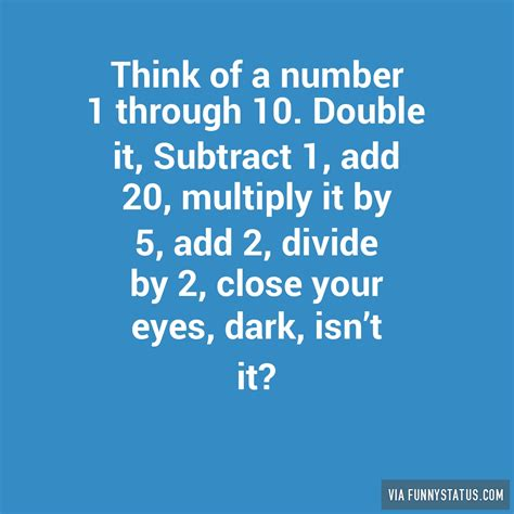 think of a number think of a number 1 through 10 it subtract