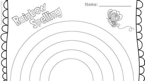 rainbow writing spelling words template unit of work read and write numbers in numerals and words