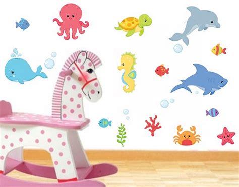Wandtattoo Kinderzimmer Ozean wandsticker ozean fische wandsticker kinderzimmer tiere