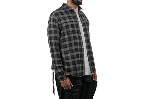 Kemeja Flannel Tartan Black Grey std light plaid flannel quot black grey quot garmentory