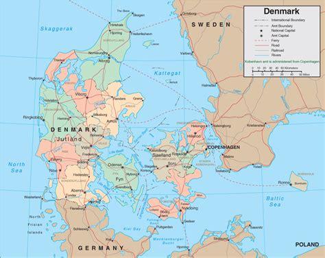 denmark on map map of denmark denmark map and travel information
