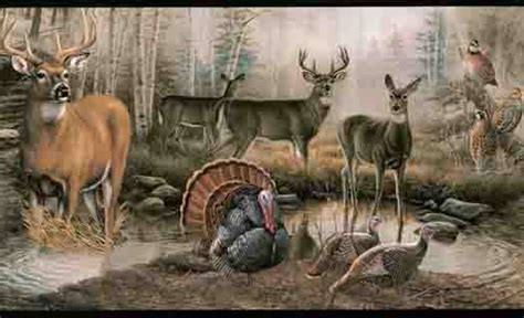 Wildlife Murals For Walls wildlife in the outdoors wall paper border wallpaper
