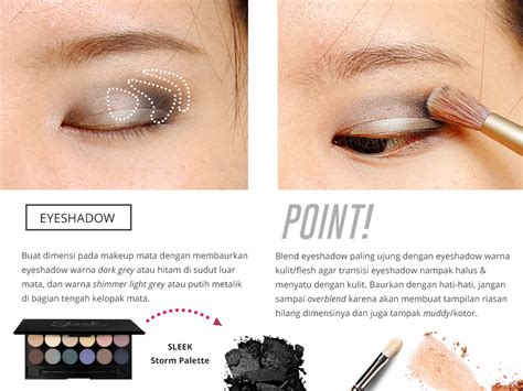 Eyeshadow Bubuk sharp bold make up tutorial with 1 day acuvue define