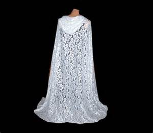 white lace hooded wedding renaissance cloak cape