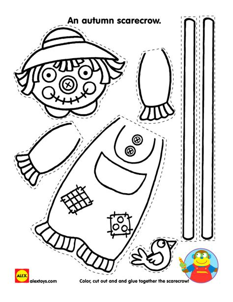 scarecrow puppet template pictures inspirational pictures