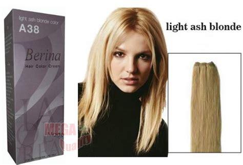 Light Ash Hair Dye by Berina Permanent Hair Dye Color Colour A38 Light