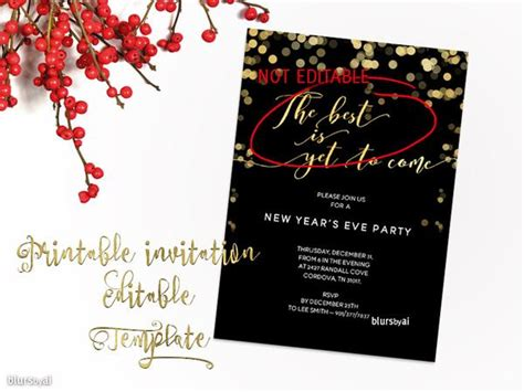 Printable New Year S Eve Party Invitation Template For Word In 5x7 Quot F Blursbyai 5x7 Invitation Template