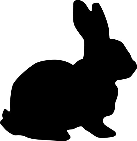 rabbit silhouette clip art at clker com vector clip art