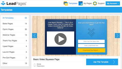 How To Create A Landing Page With Leadpages In 3 Easy Steps By Optimizepress Pro Lead Page Template Free
