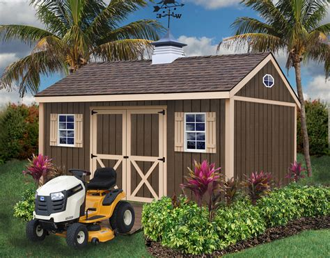 brookfield storage shed wood shed kit   barns