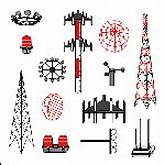 Top / Visio Stencils / Cellular Communications Set - Poles and ...