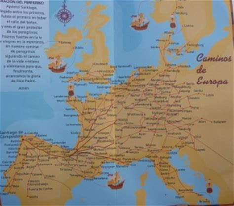 camino trail map el camino santiago or the way of st spain trails